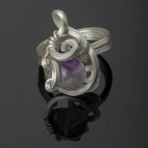 Silver fluorite ring