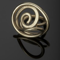 brass sculptural ring